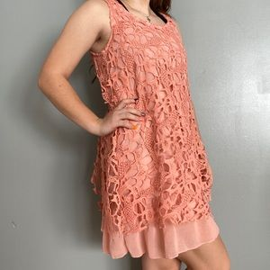 Blu Pepper Pink Lace Dress